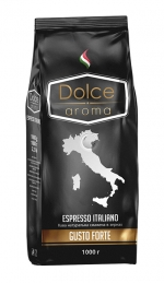Зернова кава Dolce Aroma Gusto Forte