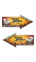 Наклейка стрілка Nero Aroma